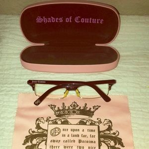 Juicy Couture 130 reading glasses & case